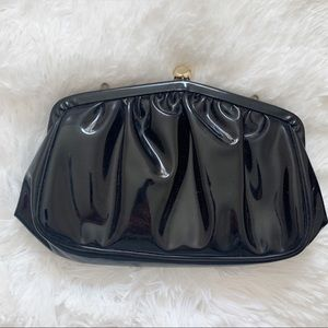 Black vintage Clutch with gold clasp